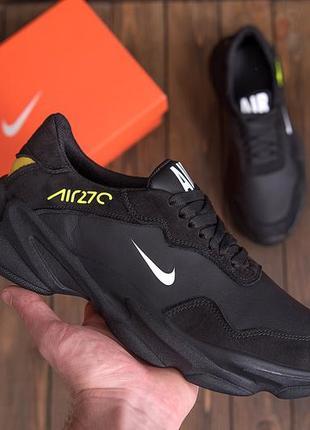 Мужские кожаные кроссовки nike air 270