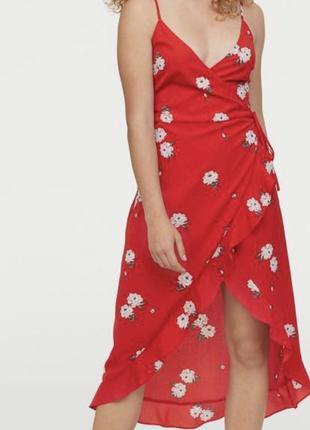Платье на запах h&m размер m