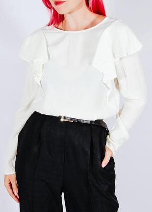 Женская нарядная белая блузка, жіноча біла блузка