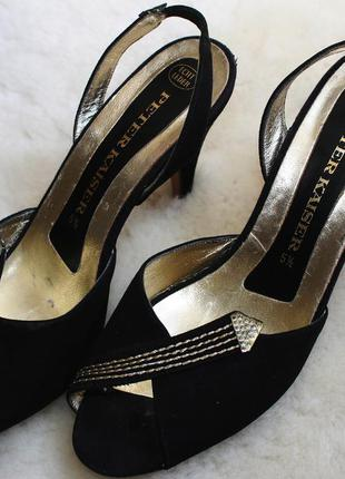 Чорні замшеві босоножки peter kaiser