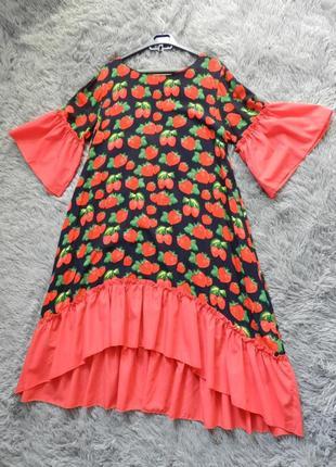 Платье штапель волан