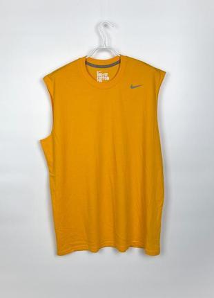 Майка тренировочная nike dri-fit cotton sleeveless tee, 336496-710