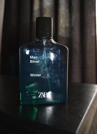 Мужские духи парфюм zara man silver winter 100 ml, оригинал испания