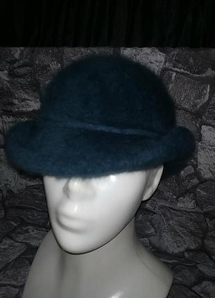 Ангоровая шляпка котелок шикарного цвета kangol