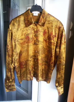 Роскошная шелковая рубашка escada