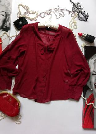 Блузка шифоновая цвет марсала