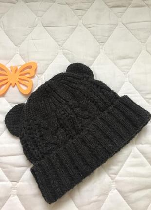 Вязаная шапка tally weijl с ушками