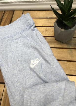 Nike голубые женские спортивные штаны брюки спортивки на манжетах4 фото
