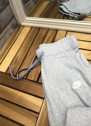 Nike голубые женские спортивные штаны брюки спортивки на манжетах3 фото