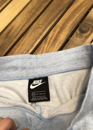 Nike голубые женские спортивные штаны брюки спортивки на манжетах6 фото