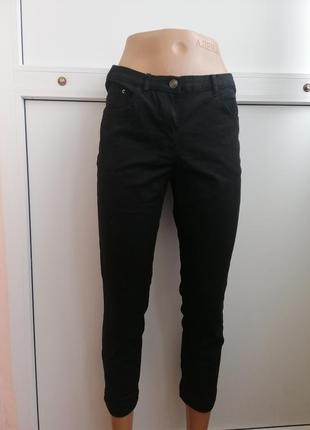 Бриджи черные джинсовые