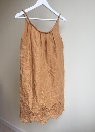 Платье massimo dutti (100% лен)