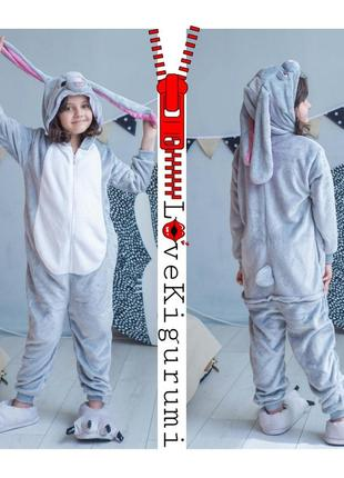 🎁подари тепло❤супер комфортные пижамы кигуруми кролик зайка застёжка молния