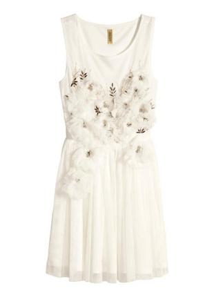 Фатиновое платье с пышной юбкой h&m нарядное выпускной свадебное