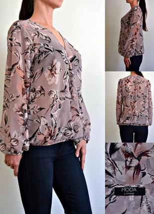 Огромный выбор блуз и платьев! шифоновая блуза на запах 14
