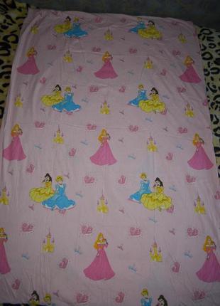 Качественный пододеяльник полуторная постель постельное белье с принцессами дисней