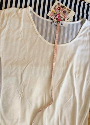 Блуза ,футболка, хлопок, спинка шифон.5