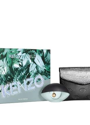 Кenzo world подарочный набор ( edp 50 ml + стильная косметичка) - оригинал