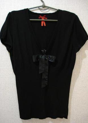 Нарядная блузка трикотажная блузка блузка с бантом большого размера 16(xxl)