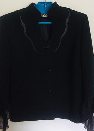 Пиджак чёрный к деловому костюму размер 46
