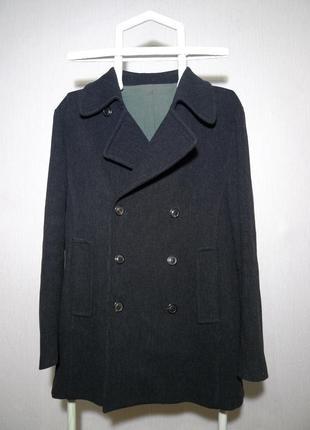Двубортное шерстяное пальто maison martin margiela mmm cucinelli loro piana