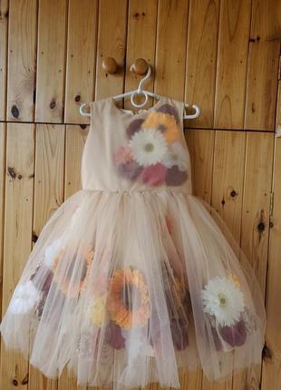 Нарядное платье 3d  платье