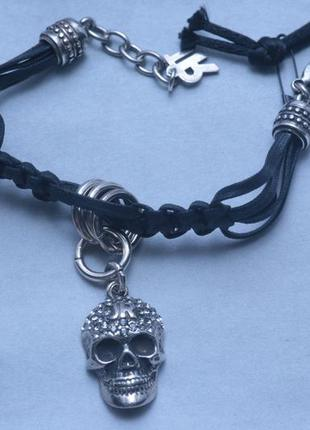 Крутой женский браслет с черепом john richmond
