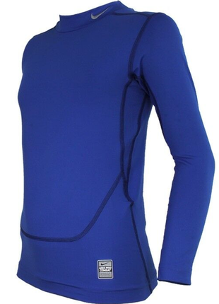 Детская термо футболка nike pro combat core compression xl mock blue kids