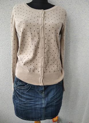 Комплект с кофтой и джинсовой юбкой из 100% хлопока c&a