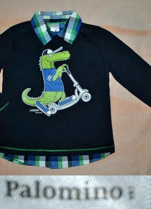 Реглан-рубашка с крокодильчиком на 104р.