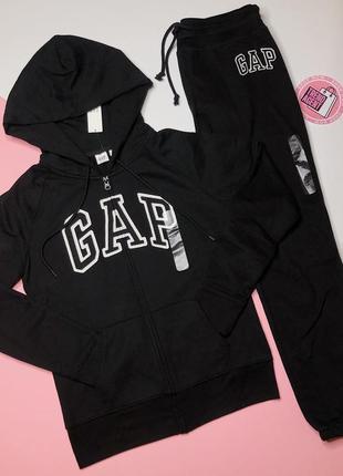 Женский чёрный спортивный костюм gap xs новый оригинал