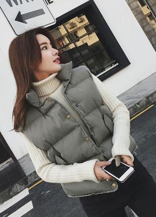 Тренд весна 2021🌟 супер модная укороченная женская жилетка/жилет. размер xl