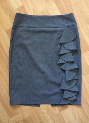 Доступно - стильная юбка с оборкой *exspress design studio* 10 р.