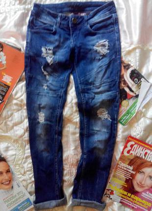 Брендовые джинсы оригинал fishbone рванки по супер цене