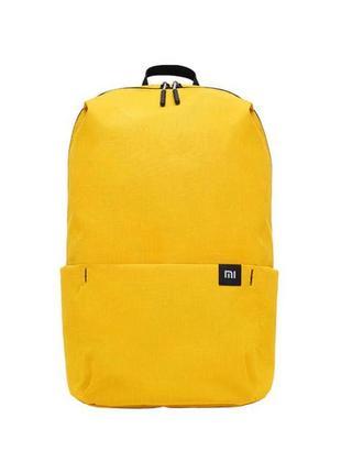 Жовтий рюкзак желтый xiaomi женский мужской унисекс небольшой яркий