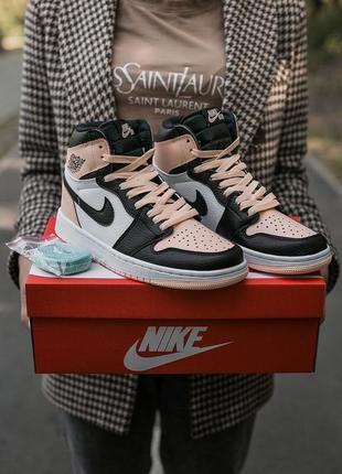 Кожаные кроссовки nike air jordan retro 1 608