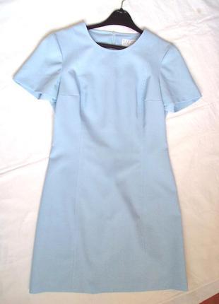 Платье elisa landri  голубое , на молнии, полиэстер ,на размер 44
