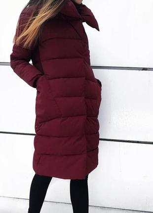Теплое пальто в 2 цветах