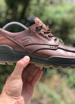 Ecco track gore-tex шкіряні демісезонні полуботінки туфлі оригінал