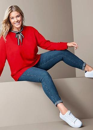 Модные вещи для пышных дам стильная блузка-туника tcm tchibo 2 размера