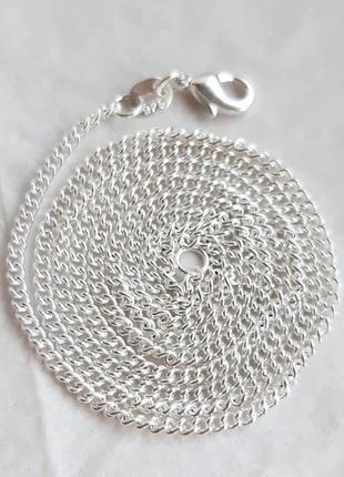 Серебряная цепочка панцирного плетения, 925 проба, 56 см