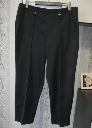 Деми классические брюки штаны с кантом заужены для офиса и улицы 16-18