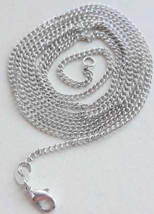 Серебряная цепочка панцирного плетения, 925 проба, 72 см