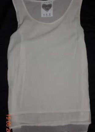 Блуза туника белая шифоновая от atmosphere