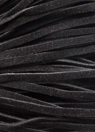 Шнур экозамша, черный, 2.5 мм., 1 метр. для рукоделия