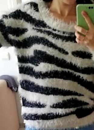 Мягкий теплый пушистый пуловер свитер травка на размер xl/50