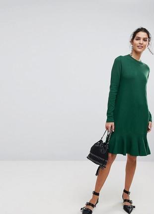 Платье теплое миди хаки гольф сукня тепла міді хакі oversize оверсайз объемное свободное