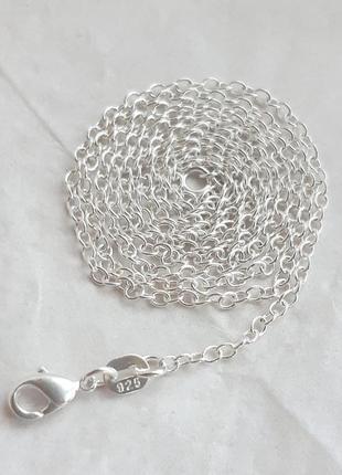 Серебряная цепочка якорного плетения, 925 проба, 63 см