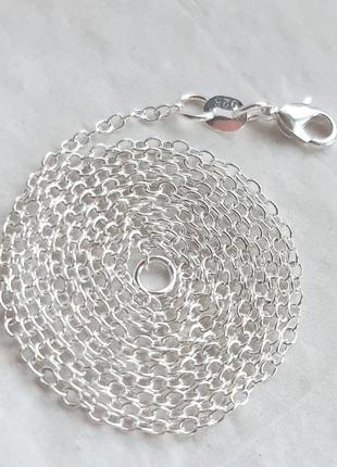 Серебряная цепочка якорного плетения, 925 проба, 68 см