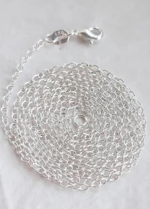 Серебряная цепочка якорного плетения, 925 проба, 76 см